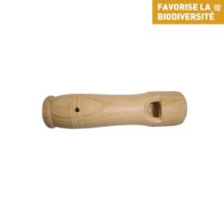 Appeau chouette hulotte en bois de couleur beige 260270