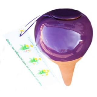 OYAS à planter émaillée violette 260718