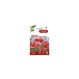 Coquelicot perfection simple rouge  261324