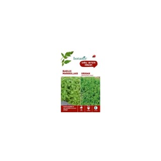Basilic marseillais  +  origan Duo aromatique 261348