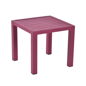 Table basse de jardin fuchsia en aluminium LOU 262510