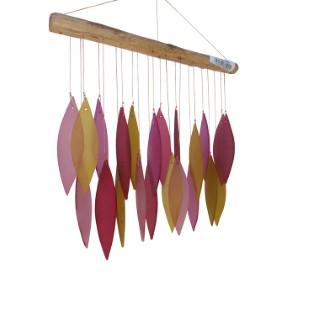 Carillon Feuille Verre Simple - Rouge 263280