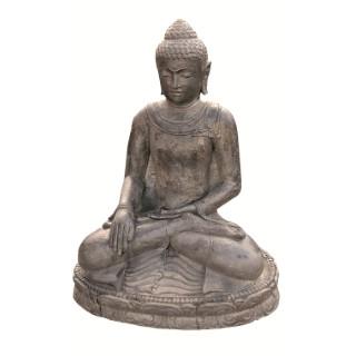 Statue de jardin Bouddha assis H 30 cm 263287