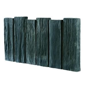 Bordurette aspect Schiste en béton coulé anthracite 50x25,5x2,8 cm 263340