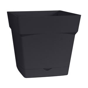 Pot carre Toscane Gris anthracite L24,8 x l24,8 x H24 263653