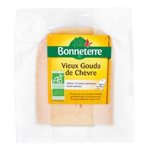 Vieux gouda de chèvre Bonneterre bio en portion de 200 g 264192