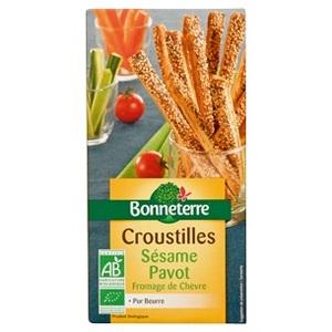 Croustilles aux graines Bonneterre bio 100 g 264202