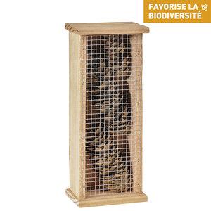Abri pour chrysopes en bois coloris naturel 264368