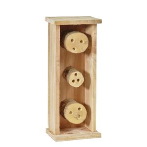 Abri pour abeilles solitaires coloris bois 264372