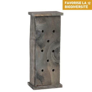 Abri à coccinelles en bois coloris gris 264379