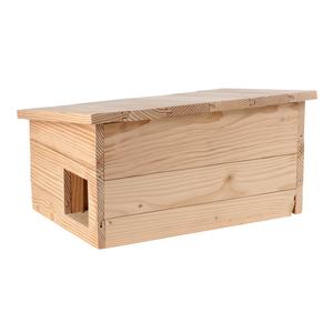 Abri pour hérisson en bois coloris naturel 264385