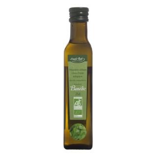 Huile aromatisée au basilic bio en bouteille de 250 ml 274933