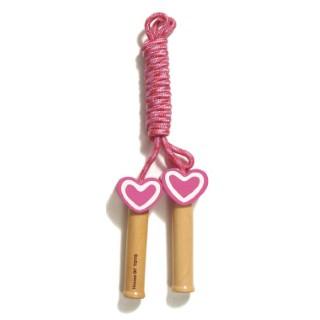 Corde à sauter en bois coeur 276970