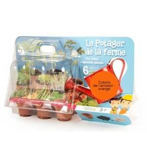 """Coffret jardinage enfant """"Le potager de la ferme"""" orange 277076"""