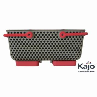 Panier Kajo 15L - taupe et framboise 278079