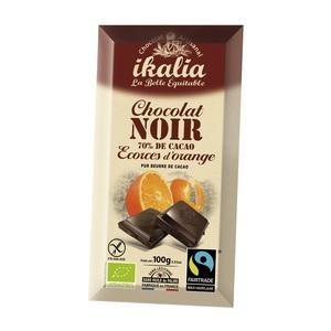 Tabette de chocolat noir 70% à l'orange 100 g 278443