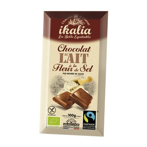 Tablette de chocolat au lait à la fleur de sel 100 g 278445