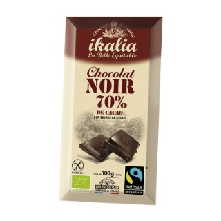 Tablette de chocolat noir 70% - 100 gr 278446