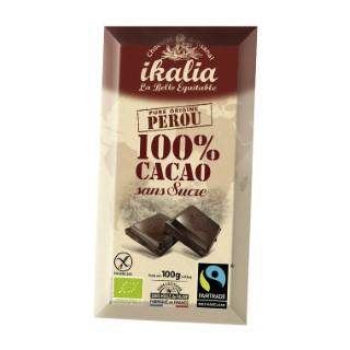 Tablette de chocolat noir 100% 100 g 278447
