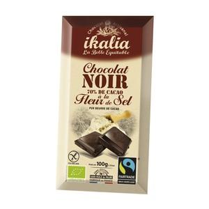 Tablette de chocolat noir 70% à la fleur de sel 100 g 278448