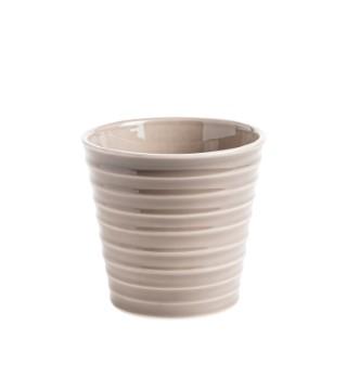 Cache-pot Canelado Ø 12,5 x H 12 cm Céramique 278508