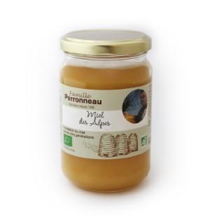 Miel de fleurs des Alpes bio dans pot en verre de 375 g 278587
