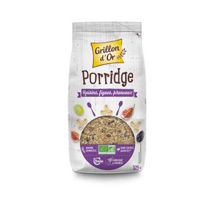 Porridge aux raisins figues et pruneaux bio 375 g 279344