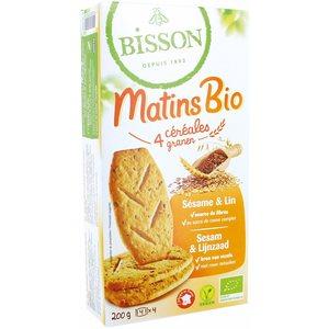 Matins bio sésame et lin 200 g BISSON 279383