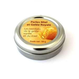 Perles miel et gelée royale. La boîte métal de 50 g 279588