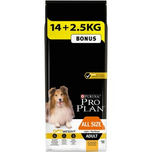 Croquettes pour chien stérilisé toutes tailles light Pro plan 16,5 kg 279736