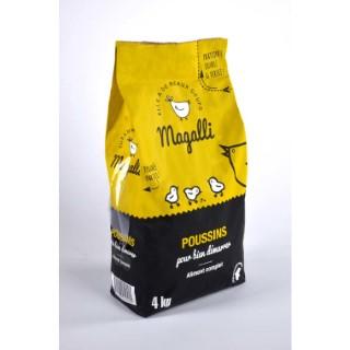 Aliment complet pour poussin en sac jaune de 4 kg 279776