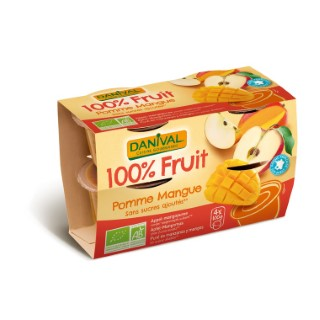 Dessert de fruits bio mangue - 400 gr 279846