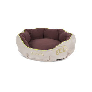 Panier donut brun pour chien Scruffs écologique taille M Ø 55 cm 280254