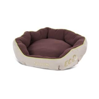 Panier donut brun pour chien Scruffs écologique taille L Ø 65 cm 280255