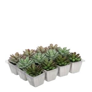 Cactus vert plante artificielle en pot H 8,5 x Ø 5 cm 280457