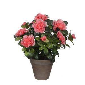 Azalée pêche plante artificielle en pot Stan gris H 27 x Ø 20 cm 280479