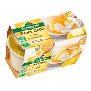 Panna cotta et nappage aux fruits exotiques Bonneterre bio 250 g 280520