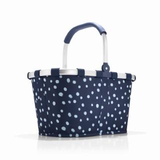 Panier pliant Carrybag bleu à motifs blancs 48x29x28 cm 281030