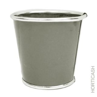 Cache-pot zinc Ø13,5xH12,7 cm 281402