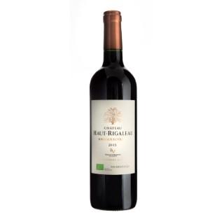 Vin rouge de Bordeaux AOC bio château Haut Rigaleau 75 cl 281588