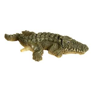 Diffuseur crocodile nano vert en polyrésine 11x6x1 cm 28198