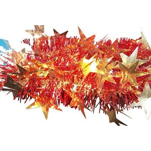 Guirlande or et rouge avec grandes étoiles 283724