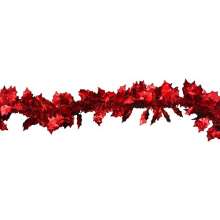 Guirlande rouge avec feuilles 283748
