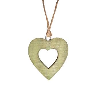 Cœur vert en bois 284344