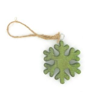 Flocon vert en bois 284346