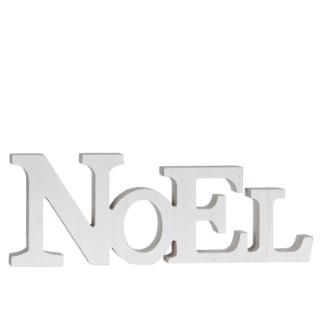 Lettres NOEL décoratives blanches H 10cm 285491