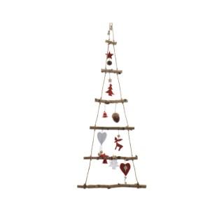 Arbre de Noël de décoration en bouleau rouge - 34x100 cm 286662
