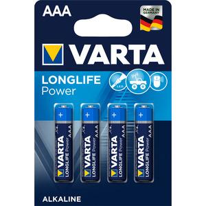 4 piles alcalines Longlife power AAA/LR03 286719
