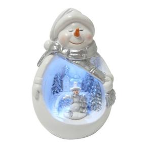 Boule à neige de Noël 12cm LED 286814
