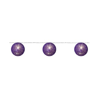 Guirlande 20 Boules Coton Camaïeu Violet 24v 288113